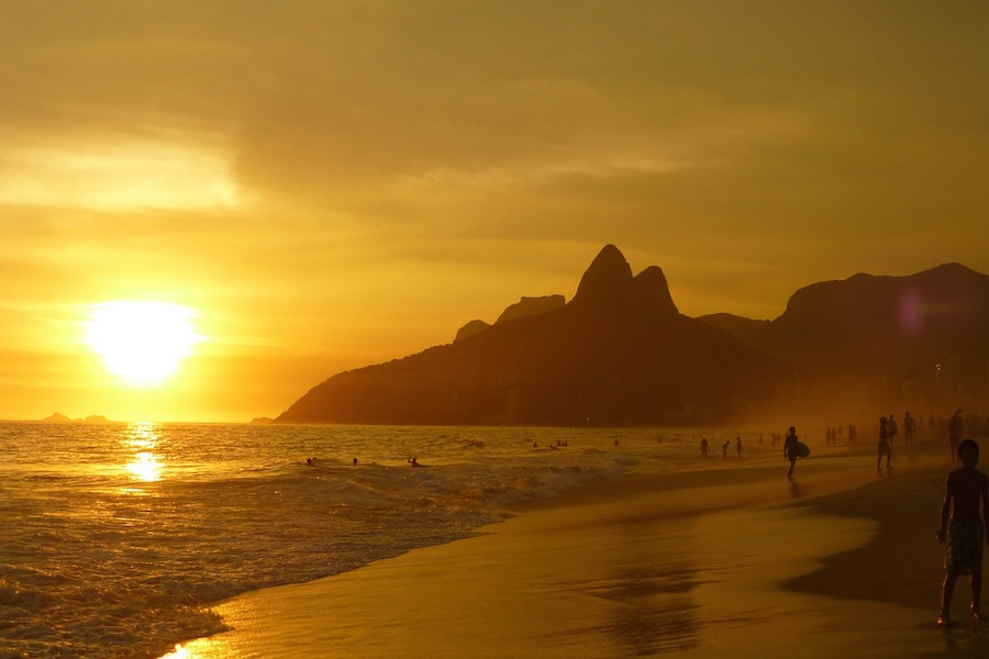 Ipanema beach Rio sea view