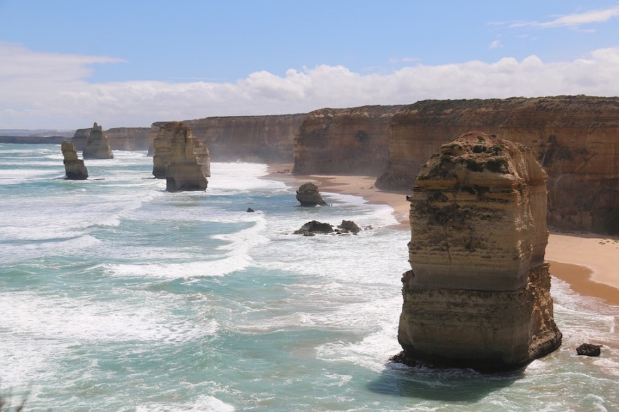 Sea view from the Twelve Apostles in Australia