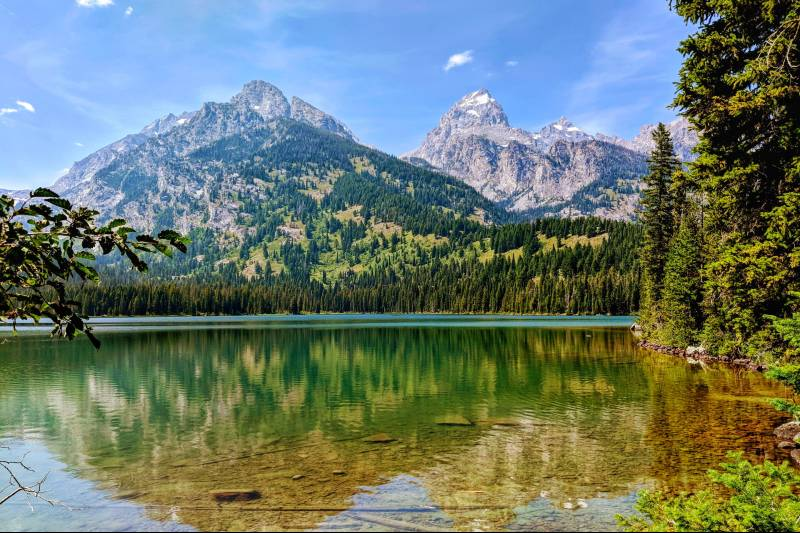 Mountains in Teton National Park in Wyoming